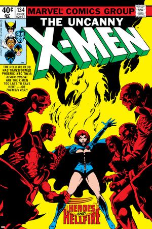 Uncanny X-Men No.134 Cover: Grey Stretched Canvas Print