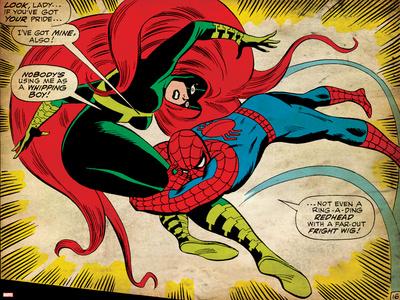 Marvel Comics Retro: The Amazing Spider-Man Comic Panel, Medusa (aged) Stretched Canvas Print