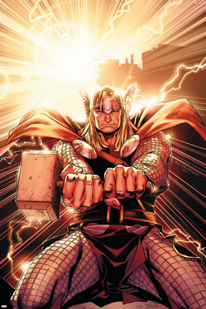 Thor No.11 Cover: Thor Stretched Canvas Print