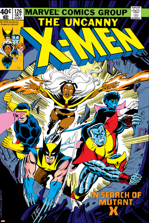 Uncanny X-Men No.126 Cover: Wolverine, Colossus, Storm, Cyclops, Nightcrawler and X-Men Fighting Stretched Canvas Print