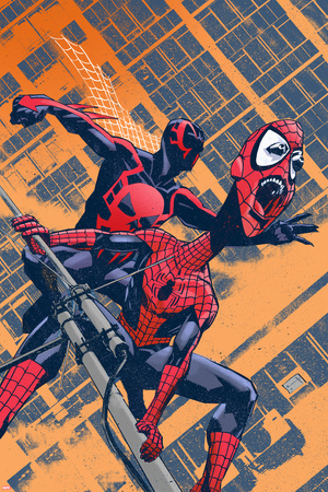 Exiles No.96 Cover: Spider-Man Stretched Canvas Print