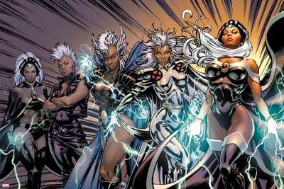 X-Men Evolutions No.1: Storm Stretched Canvas Print