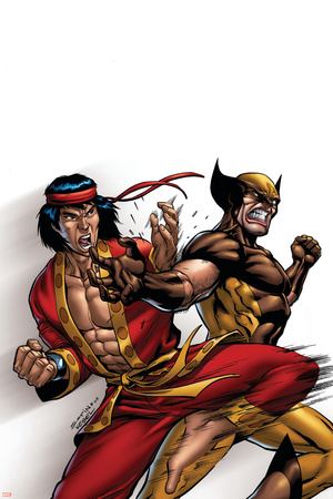 Wolverine: First Class No.9 Cover: Wolverine and Shang-Chi Stretched Canvas Print