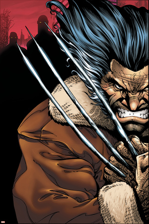 Weapon X: Days Of Future Now No.1 Cover: Wolverine Stretched Canvas Print