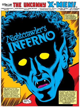 Uncanny X-Men Annual No.4 Headshot: Nightcrawler Stretched Canvas Print