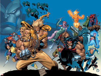 X-Men: The Complete Age Of Apocalypse Epics Cover: Sabretooth Stretched Canvas Print