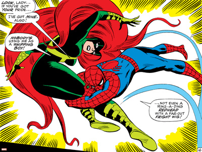 Marvel Comics Retro: The Amazing Spider-Man Comic Panel, Medusa Stretched Canvas Print