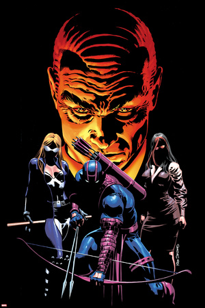 What If? Dark Reign No.1 Cover: Mockingbird, Hawkeye, and Norman Osborn Posing Stretched Canvas Print