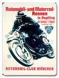 Vintage Motorcycle Racing (Wood Signs)