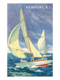 Sailboats (Vintage Art)