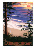Michigan Travel Ads (Decorative Art)