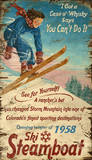 Vintage Skiing (Wood Signs)