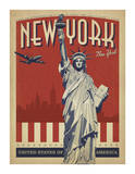 New York Travel Ads (Decorative Art)
