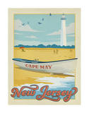 New Jersey Travel Ads (Decorative Art)
