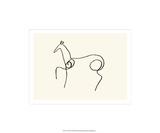 Le cheval Sérigraphie par Pablo Picasso