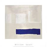White and Blue, c.1960 Sérigraphie par William Scott