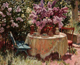 Garden Table with Blue Chair