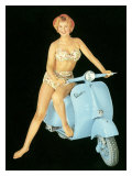 Pin-Up Girl: Italian Vespa Piaggio