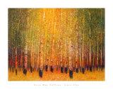 Trembles rougeoyants Reproduction d'art par Gary Max Collins