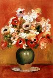 Fleurs dans un vase Reproduction d'art par Pierre-Auguste Renoir