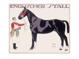 Englischer Stall Horse Giclée