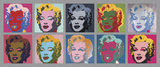 Les 10 Marilyn, 1967 Reproduction d'art par Andy Warhol