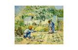 Les premiers pas (d'après Millet) Giclée par Vincent Van Gogh