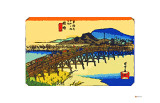 Yahagi Bridge with Okazaki Castle in Background