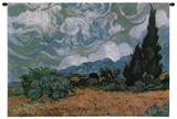 Wheatfield with Cypresses  c1889