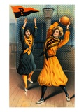 Album Card Depicting Women Basketball Players from Princeton University