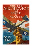 Join the Air Service and Serve in France Recruiting Poster