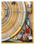Detail  of an astronomer from Plate 1 from Harmonia Macrocosmica