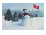 Golfing Snowman