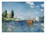 Les bateaux rouges, Argenteuil Giclée par Claude Monet