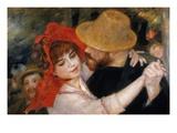 Détail du Bal à Bougival représentant un couple en train de danser Giclée par Pierre-Auguste Renoir