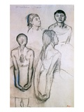 Four Studies of Dancers