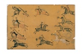 Plains Pictographic Drawing of a Battle