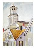 Clocher de l'église et toits Giclée par Edward Hopper