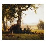 Union Soldiers Fighting in the Field by Albert Bierstadt