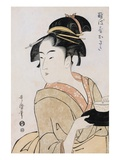 A Bust Portrait of the Waitress Okita of the Naniwaya Teahouse