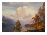 Les Rocheuses Giclée par Albert Bierstadt