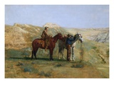 Detail of Cowboys in the Badlands