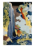 Ono Waterfall Along the Kisokaido  from the Series A Journey to the Waterfalls of All the Provinces