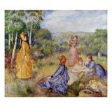 Jeune filles jouant au badminton Giclée par Pierre-Auguste Renoir