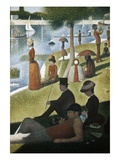 Detail from Sunday Afternoon on the Island of La Grande Jatte