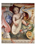 Angel Playing a Lute from the Salon of the Muses in the Villa Medici in Florence