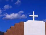 Cross on Church and Sky
