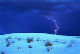 Lightening above White Sand Dune
