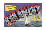 Greeting Card from Sea Bright  New Jersey