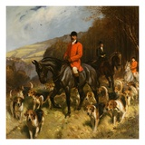 Painting of Mr and Mrs Lewis Priestman With the Braes of Derwent Hunt by John Charlton